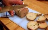 Les brochettes de Colette: aiguillettes au foie gras et mangues poêlées