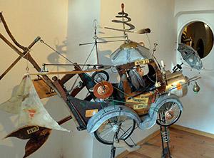 sculpture - poète ferrailleur Lizio