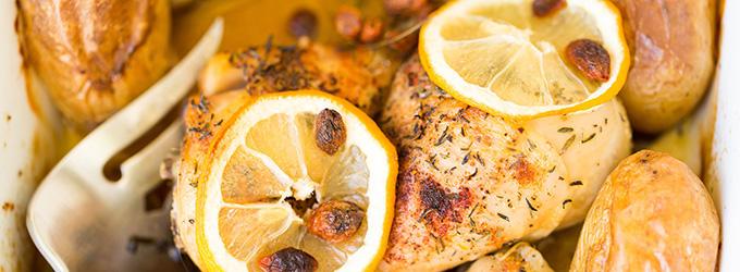 recette poulet à la crème de citron